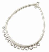 Ovaal open component zilver