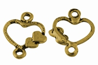 Hartje  valentijn coponent antiek goud