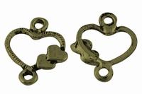 Hartje  valentijn coponent antiek brons