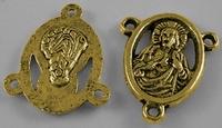 Rosenkrans componet antiek zilver