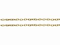 Twist ovalen ketting goud