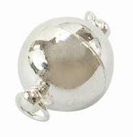 Magneet slot zilver grote bal