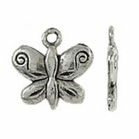 Vlinder antiek zilver