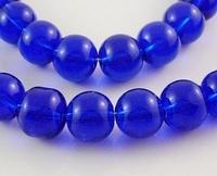 Rond 8 Donker paars/blauwe kraal