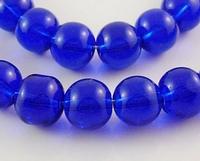 Rond 12 Donker paars/blauwe kraal