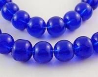 Rond 6 Donker paars/blauwe kraal