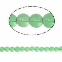 Rond 6 Mint groene kraal