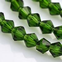 bicoon Kristal  hand geslepen  donker groen