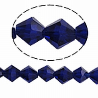 bicoon Kristal  hand geslepen  donker blauw