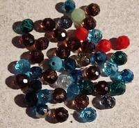 Kristal rondel hand geslepen helder paars