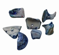 Zee schelpjes marine blauw
