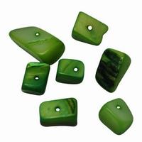 Zee schelpjes lime groen