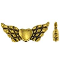 Engel vleugel met hartje antiek goud