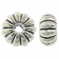 Drum kraal ribbel antiek zilver