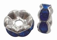 Rhinestone Spacer donker blauw