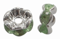 Rhinestone Spacer lime groen