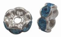 Rhinestone Spacer blauw