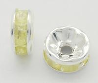 Rhinestone Spacer geel