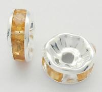 Rhinestone Spacer goud