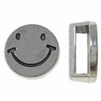 Rond smily antiek zilver
