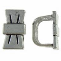 Schuif kraal strik antiek zilver