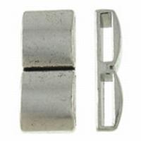 Dubbele schuiver antiek zilver
