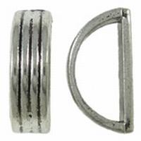 Schuiver half rond antiek zilver