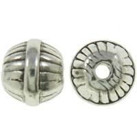 Ronde  kraaltje bewerkt antiek zilver