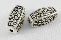Buis kraal vierkant antiek zilver