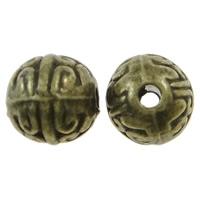 Ronde kraal bewerkt antiek brons