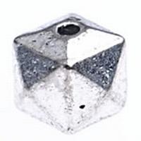 Kraal facet antiek zilver