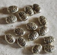 Ronde kraal antiek zilver