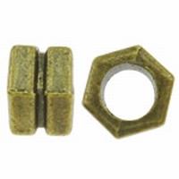 Antiek bronzen kraaltje moertje
