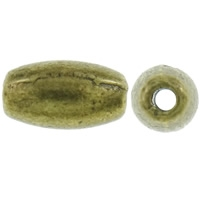 Rijst kraal antiek brons 26