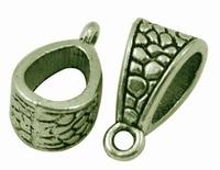Schuif kral met aanhang oogje brons