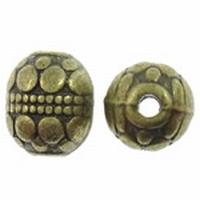 Ronde antiek bronze kraal