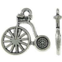 Fiets hoge bi loop fiets antiek zilver