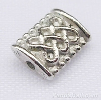 Klein plat kraaltje zilver