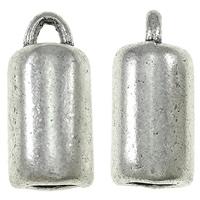 Eindkapje buisje glad antiek zilver