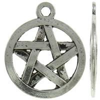 Pentagram antiek zilver