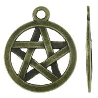 Pentagram antiek brons