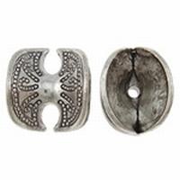 Kapje dubbel antiek zilver