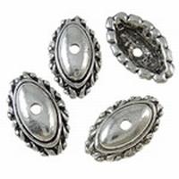 Kapje ovaal antiek zilver