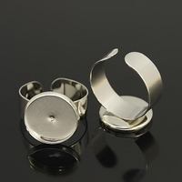 Ring voor Cabochons platina