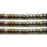 Kraaltje iris kleuren opaque brons/metaal kleur