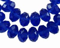 Kristal rondel Kobalt blauw
