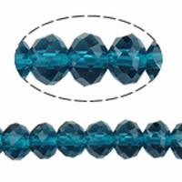 Kristal rondel antraciet