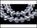 Kristal rondel helder luster