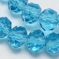 Kristal rondel blauw