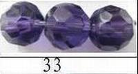 Kristal rond helder AB kleur